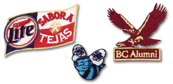 Custom Embroidered Appliques available in any shape or size.